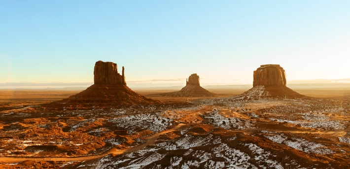 Sunrise in Navajo Monument Valley