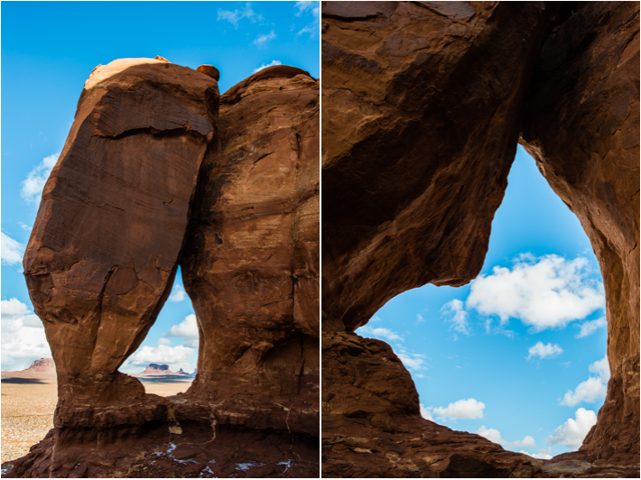 Teardrop arch. secret valley, monument valley