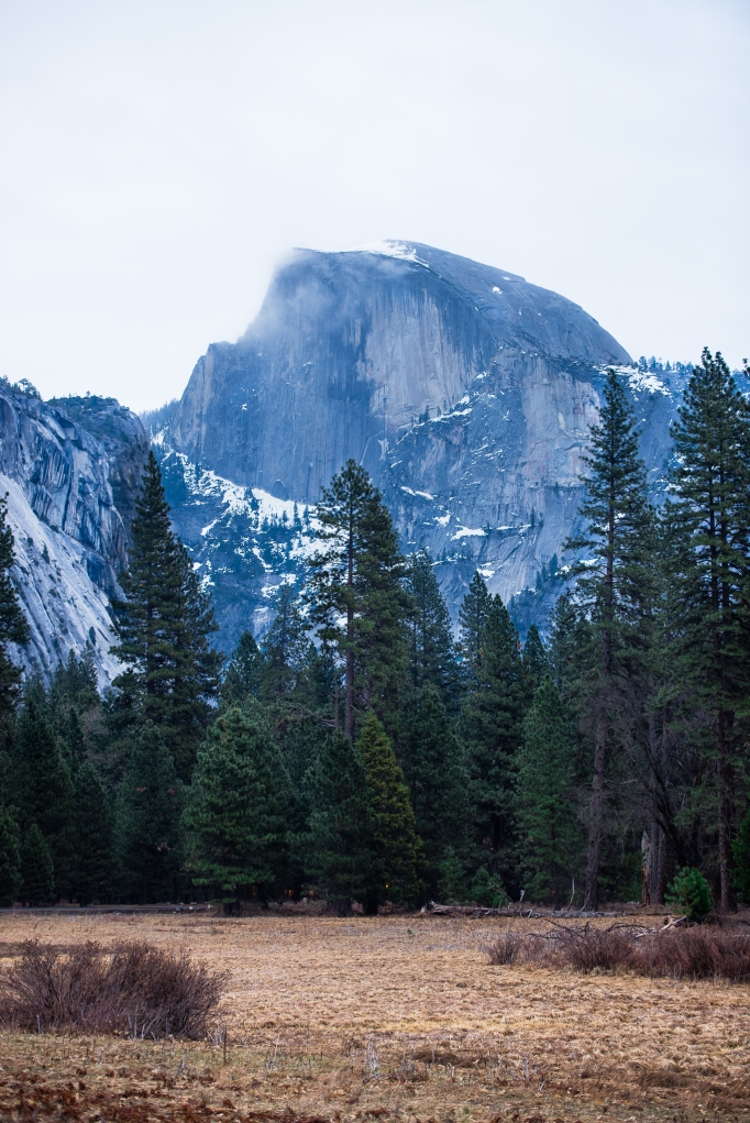 Half Dome in morning blue photo
